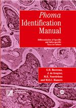 "Book cover for <i xmlns=""http://www.w3.org/1999/xhtml"">Phoma</i> identification manual. Differentiation of specific and infra-specific taxa in culture."