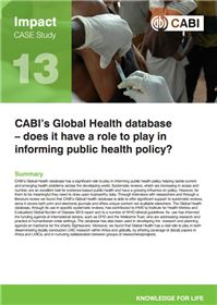 Global Health impact study 13 front cover
