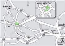 Map showing directions to CABI's Wallingford UK office.