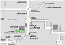 Map showing directions to CABI's India office.