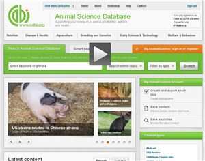 Animal Science Database training video