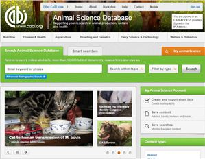 Animal Science Database screenshot