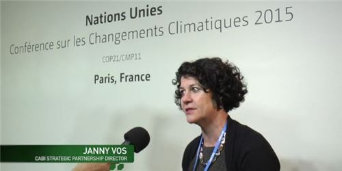 On 2 December, speaking at the UNFCCC climate studio, CABI's Dr Janny Vos discussed the impact of climate change on agriculture, especially for the world's 500 million smallholder farmers.