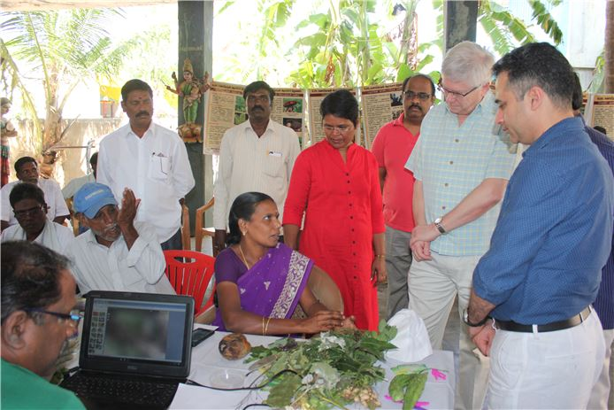 Trevor at a plant clinic in India