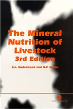 Book cover for The mineral nutrition of livestock.