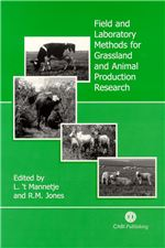 Book cover for Field and laboratory methods for grassland and animal production research.