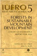 Book cover for Forests in sustainable mountain development: a state of knowledge report for 2000. Task Force on Forests in Sustainable Mountain Development.