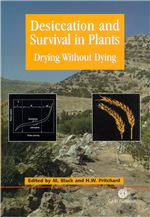 Book cover for Desiccation and survival in plants: drying without dying.