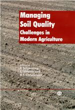 Book cover for Managing soil quality: challenges in modern agriculture.