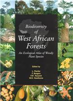 Book cover for Biodiversity of West African forests: an ecological atlas of woody plant species.