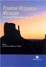 Book cover for Tourism research methods: integrating theory with practice.
