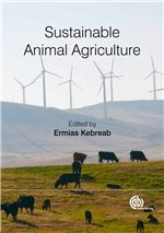 Book cover for Sustainable animal agriculture.