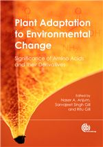 Book cover for Plant adaptation to environmental change: significance of amino acids and their derivatives.