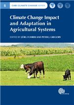 Book cover for Climate change impact and adaptation in agricultural systems.