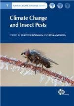 Book cover for Climate change and insect pests.