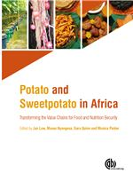 Book cover for Potato and sweetpotato in Africa: transforming the value chains for food and nutrition security.