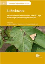 "Book cover for Bt resistance: characterization and strategies for GM crops producing <i xmlns=""http://www.w3.org/1999/xhtml"">Bacillus thuringiensis</i> toxins."