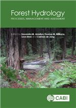 Book cover for Forest hydrology: processes, management and assessment.