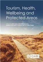Book cover for Tourism, health, wellbeing and protected areas.