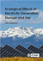 Book cover for Ecological effects of electricity generation, storage and us.