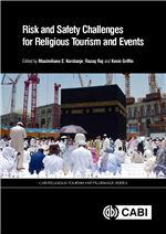 Book cover for Risk and safety challenges for religious tourism and events.