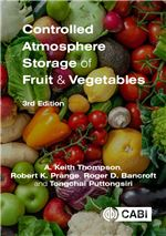 Book cover for Controlled atmosphere storage of fruit and vegetables.