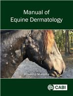 Book cover for Manual of equine dermatology.
