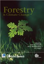 Book cover for Forestry and climate change.
