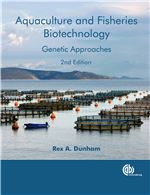 Book cover for Aquaculture and fisheries biotechnology: genetic approaches.