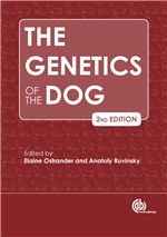 Book cover for The genetics of the dog.