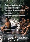 Cover for Conservation and management of tropical rainforests: an integrated approach to sustainability.