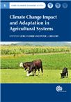 Cover for Climate change impact and adaptation in agricultural systems.