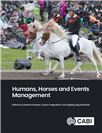 Cover for Humans, horses and events management.