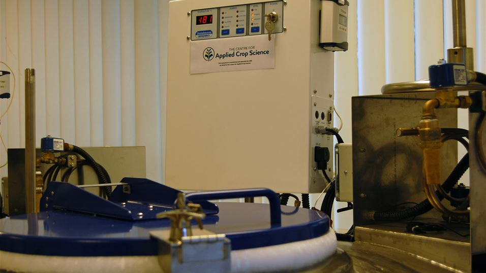 CACS equipment at CABI Cryopreservation