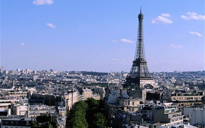 Cityscape of Paris, with Eiffel Tower