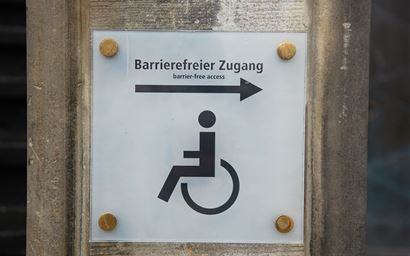Sign for disabled access