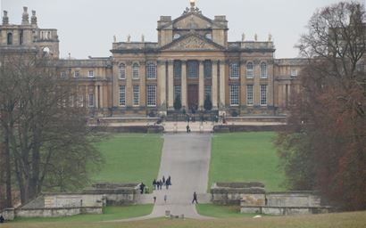Blenheim Palace in winter