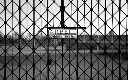 Gates to Dachau concentration camp