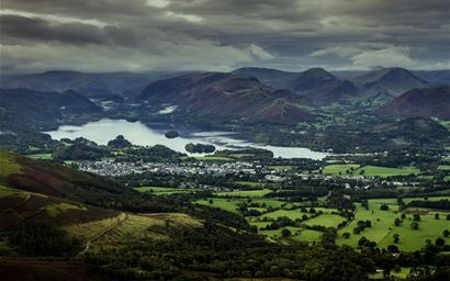 View of Keswick and Derwent Water