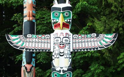 Totem pole in Vancouver, British Columbia
