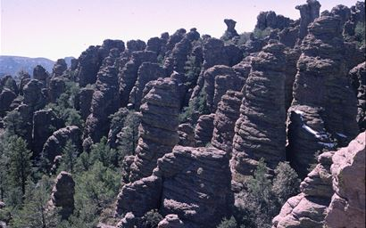 Rocky pinnacles in the Chirirachua National Monument, USA