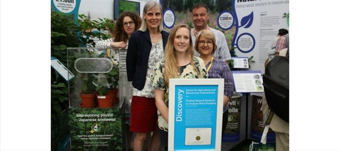 CABIs Nature vs Invader exhibit wins gold at Chelsea
