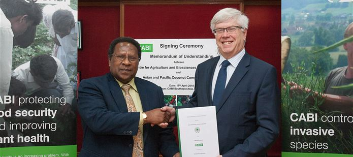 CABI signs MoU with Asian and Pacific Coconut Community