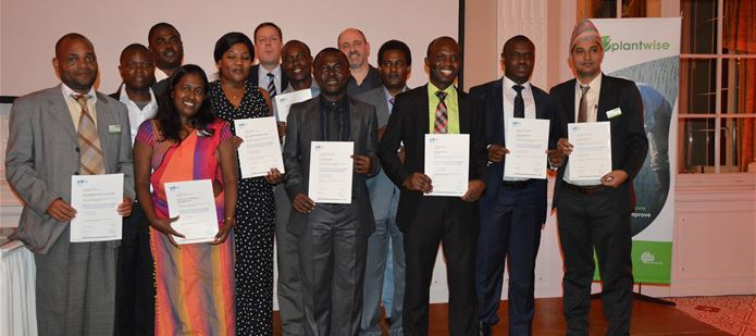 International students graduate with Masters degree in crop management