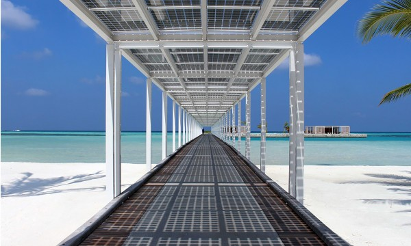 Walkway out on to beach