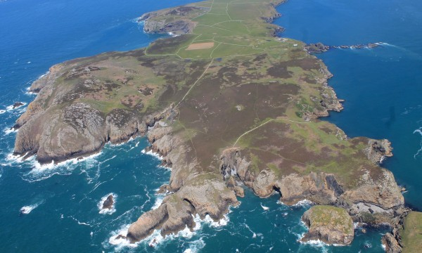 View of British island from above