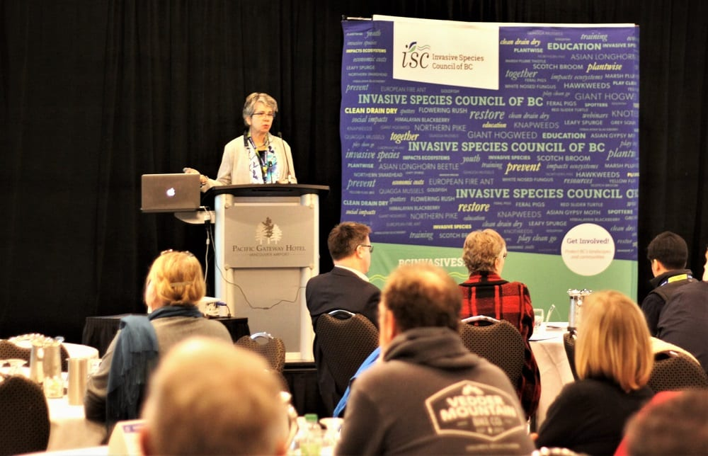 Hariet at BC Invasives Conference
