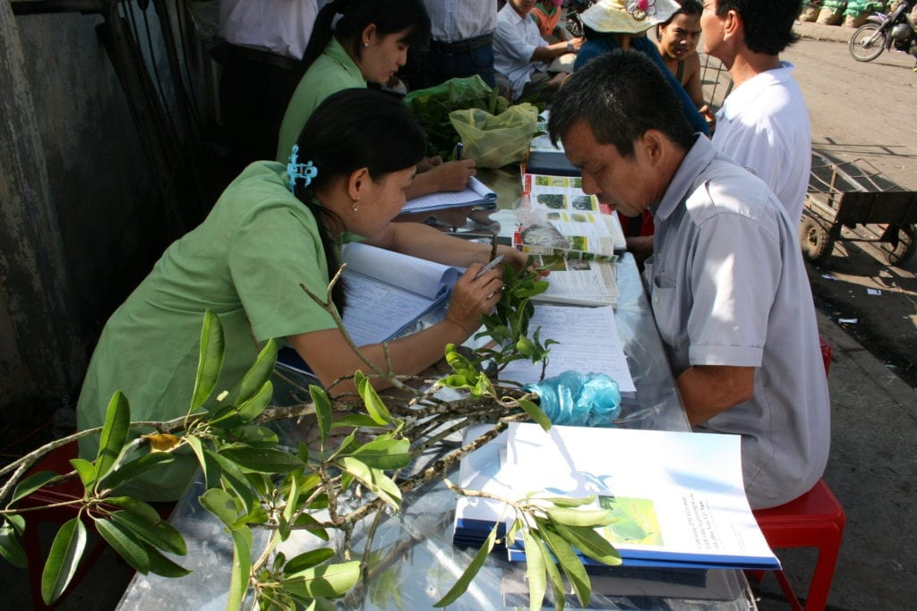 Plant clinic in Vietnam