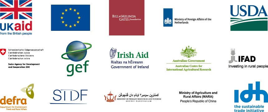 Key donor logos
