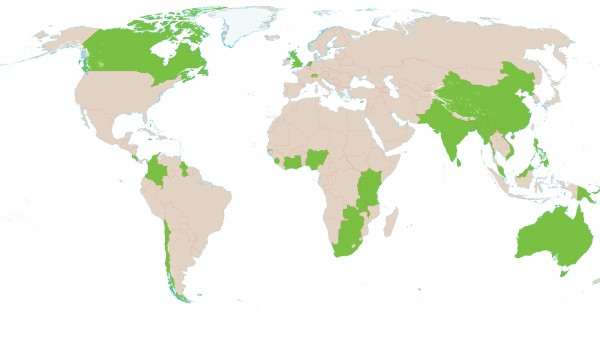 Member Countries map
